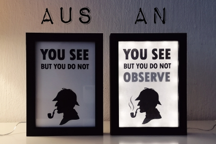 Bilderrahmen in Lichtbox mit geheimen Botschaften verwandeln: Sogeht's